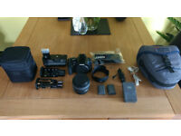 Canon EOS Rebel XTi and accessories, no lens.