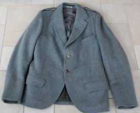 Men's Harris Tweed Argyll Kilt Jacket and Waistcoat 36R