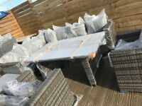Manoco rattan 9 seater outdoor garden dining set - delivery available