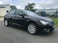 63 SEAT LEON 1.6 TDI SE 5 DOOR 42000 MILES 1 OWNER IN BLACK CLEAN CAR