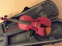 Beautiful purple/ pink sparkle violin