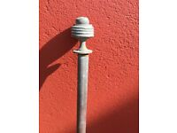 Vintage brass curtain rail