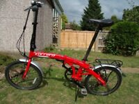 Carrera Intercity 8 Speed Folding Commuter Bike For Sale - Very Good Condition Only 12.7kg in Weight
