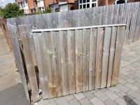 2 x Quality and substantial Garden/Drive gates + fence panel for fill in.