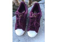 Men's size 7 superstar adidas trainers
