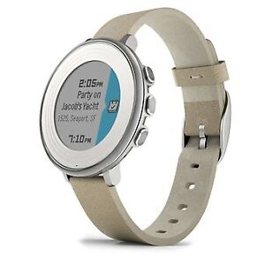 Pebble Time Round 14mm Smartwatch, Silver