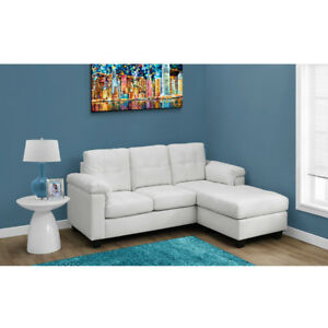 Parker Leather Condo Sized Sectional Sofa