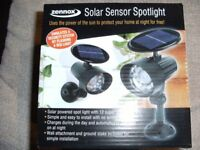 SOLAR SENSOR SPOTLIGHT (Brand New & Boxed)