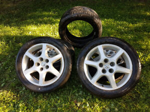 4 Nissan Altima wheels with tires
