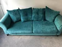 3/4 Seater Sofa in lovely Teal colour. Good condition.