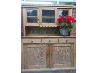 Wooden Kitchen Dresser. Needs treating for woodworm, free to a good home.