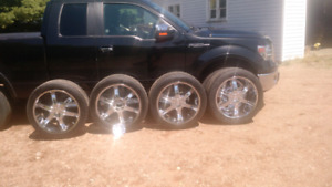 """22"""" Rims With Tires"""