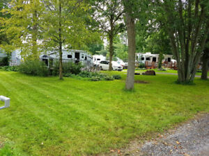Beautiful camping lot at Whispering Winds Park