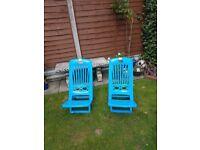 2 New Plastic Beach Chairs.