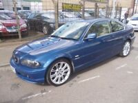 BMW 325CI SE Auto,2494 cc 2 door Coupe,full leather interior,full MOT,full 5 set alloy wheels