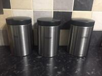 Brabantia Sugar/Tea and Coffee Canisters