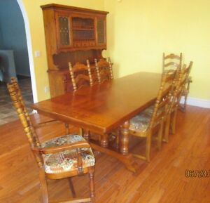 9 piece solid wood dining room set - PRICE REDUCED