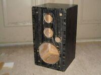 pair of used and empty speaker boxes hi fi hifi sub car audio cabinets diy