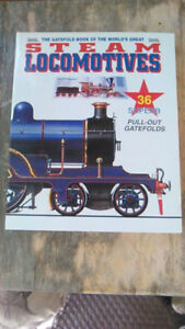 STEAM LOCOMOTIVES Book- with 36 Superb Pull-Out Posters
