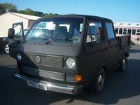 VW T25 DOKA double cab pick-up rhd 12+ months mot petrol/lpg gwo
