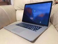 APPLE MACBOOK PRO RETINA 15 INTEL CORE I7 2.6GHZ 8GB RAM 500GB SSD WIFI WEBCAM OS X