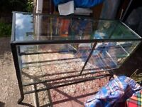 GOTHIC FREE STANDING GLASS CABINET WITH LOCKABLE DOORS