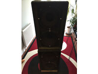 Two of heavy freestanding Speaker for band/keyboard/or guitar used but in good condition