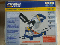 Power Craft 1200w 210mm Mitre Saw with Laser