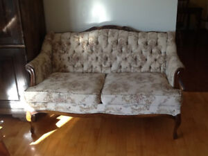French provincial love seat and sofa