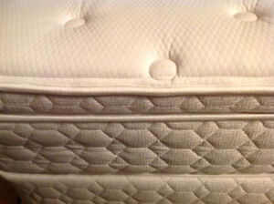Queen pillow top SEALY mattress & Box.   Like new in spare room.