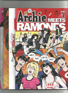FOR SALE - Archie Meets Ramones - One Shot - Set Of 4 Covers NM