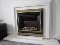 Electric fire with white surround in very good condition