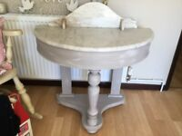 MARBLE TOPPED VICTORIAN DUCHESS WASHSTAND
