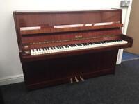 Petrof mahogany Gloss finish compact upright piano