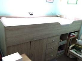 Children's Midi-Sleeper bed with storage space.