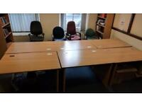 2 x brown small desks 120 x 80cm. Delivery