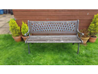 Lovely wood and cast iron garden bench, £40