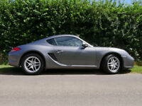 Porsche Cayman 2.9 Gen II - High specification, Meteor Grey paintwork, Black leather seats.