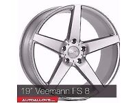 "19"" Veeman VFS 8 Alloy wheels &Tyres LEON, A4 A3 MK2 MK3 VW Passat, Jetta, Golf MK5, MK6, MK7,Caddy"