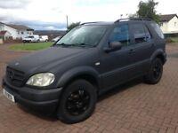 2001 mercedes ml320 auto 7 seater in raptor line matt black mot fortunes spent leather 4x4
