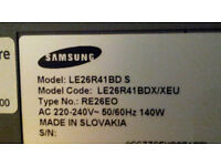 26in television, SAMSUNG LE26R41BD S Widescreen, black & silver