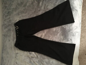 Dress pants with attached belt. Worn once. from Suzy sheer.