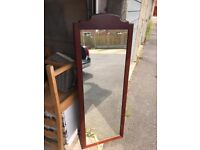Quality solid wood long wall mirror
