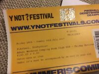 Y Not festival adult weekend camping VIP plus parking