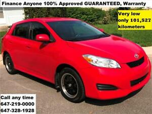 2009 Toyota Matrix XR FINANCE 100% APPROVED, WARRANTY 101,527 KM