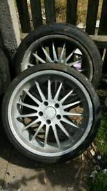 Alloys wheels and tyres