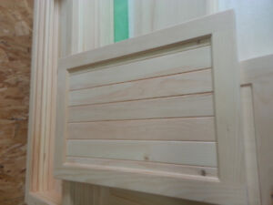 Custom made pine cupboard doors