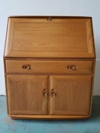 ERCOL WINDSOR BUREAU STYLISH PRACTICAL CLASSIC PIECE OF HOME OFFICE FURNITURE SOLID ASH CAN DELIVER