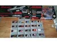 Massive super Nintendo bundle 24 games boxed console and scope!!