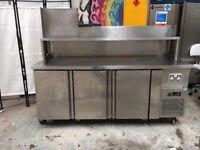 3 Door Commercial Stainless Steel Counter Refrigerator/Gantry/ Catering Fridge